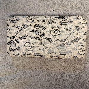 Handbags - Cute white lace clutch wallet